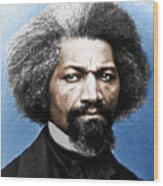 Frederick Douglass Painting In Color  Wood Print