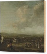 Frederick Henry At The Surrender Of Maastricht  22 August 1632  Manner Of Pieter Wouwerman 1633   1 Wood Print