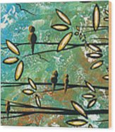 Free As A Bird By Madart Wood Print