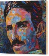 Free Energy Nikola Tesla Wood Print