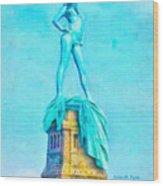 Free Liberty - Pa Wood Print