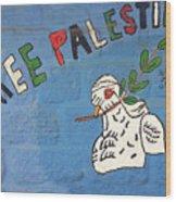 Free Palestine Peace Wood Print
