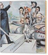 Free Silver Cartoon, 1895 Wood Print