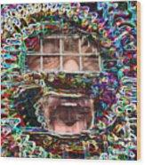 Free Speech Wood Print by Jonathan Shaps