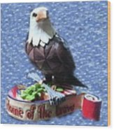 Freedom Eagle Wood Print