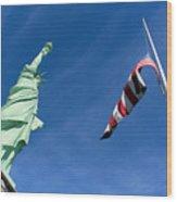 Freedom Flag Wood Print