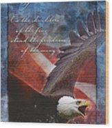 Freedom Greeting Card Wood Print by William Martin