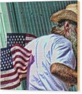 Freedom Man Wood Print