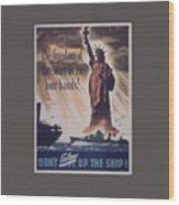 Freedom Of The Seas Wood Print
