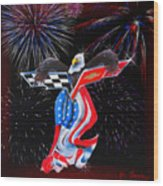 Freedom Wood Print by Patricia Stalter