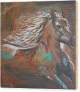 Freedom Run Wood Print