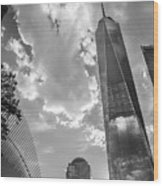 Freedom Tower Bw Wood Print