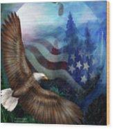 Freedom's Flight Wood Print
