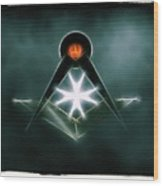 Freemason Symbol By Raphael Terra Wood Print