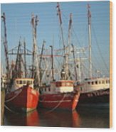 Freeport Shrimper Fleet Wood Print