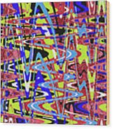 Freeway Of Colors Abstract Wood Print