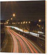 Freeway Streakers Wood Print