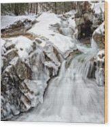 Freeze On The Basin Trail Nh Wood Print