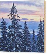 Freezing Sunset 14 Wood Print