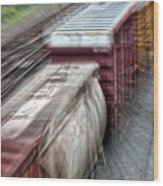Freight Train Abstract Wood Print