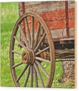 Freight Wagon Wheel Wood Print
