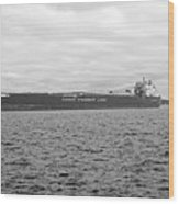 Freighter In Midland Bay Wood Print