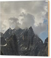 French Alps Peaks Wood Print
