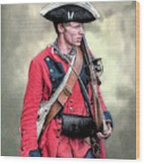 French And Indian War British Royal American Soldier Wood Print