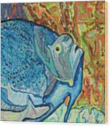 French Angle Fish Wood Print