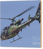French Army Gazelle Helicopter Wood Print
