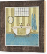 French Bath 2 Wood Print