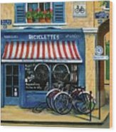 French Bicycle Shop Wood Print