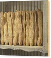 French Bread In Roussillon Wood Print
