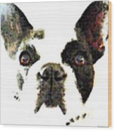 French Bulldog Art - High Contrast Wood Print