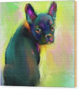 French Bulldog Painting 4 Wood Print