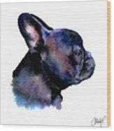 French Bulldog Portrait Wood Print