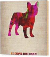 French Bulldog Poster Wood Print