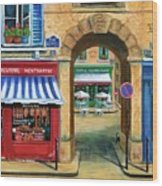 French Butcher Shop Wood Print