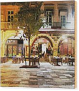 French Cafe Wood Print by James Shepherd