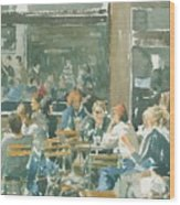 French Cafe Scene  Wood Print