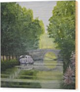 French Canal Wood Print