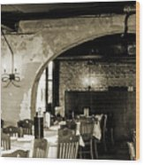 French Country Restaurant 2 Wood Print