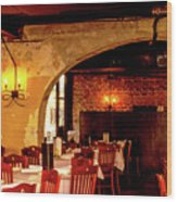 French Country Restaurant Wood Print