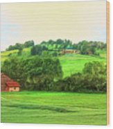 French Countryside Wood Print