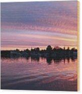 French Creek Sunrise Wood Print