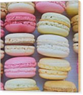 French Delicious Dessert Macaroons Wood Print