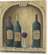 French Estate Wine Collection Wood Print