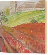 French Fields Wood Print