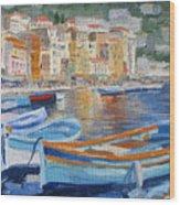French Harbor Wood Print