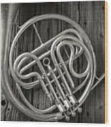 French Horn 2 Wood Print